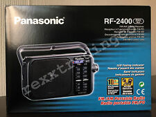 ***NEW*** PANASONIC RF-2400 AM FM Portable Radio - Black - Battery/AC (220V)