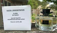NIB Flora by Gucci Eau de Toilette Natural Spray 75mL 2.5oz TESTER Women Perfume
