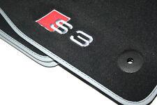 Premium Textil Fußmatten Satz S3 Logo Original Audi A3 8V Velours Matten Set OVP