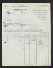 """TOURS (37) FOURNITURE & MATERIEL """"COMPAGNIE GENERALE D'ELECTRICITE"""" en 1927"""