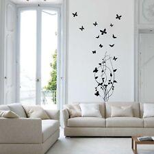 wall stickers adesivi murali farfalle fiori flowers decorazioni casa rami a0025