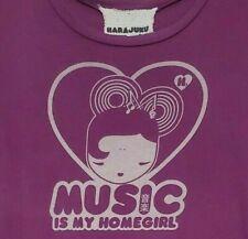 HTF HARAJUKU LOVERS tee t-shirt top SIZE LARGE MUSIC IS MY HOMEGIRL purple gwen