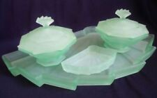 Green Tray Uranium Date-Lined Glass