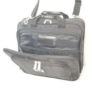 HP Invent Black Laptop Computer Bag / Briefcase W/ Multiple Compartments & Strap