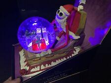 Nightmare Before Christmas 2019 Jack Santa Coffin Light Up Musical Snow Globe