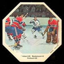 1967-68 York Octagons Hockey NO # Pulford Backstrom vs Rogatien Vachon Canadiens