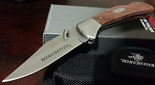 WINCHESTER LOCKBACK HUNTING POCKET KNIFE W/ SHEATH CASE !!!