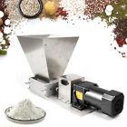 Electric Wet & Dry Grain Crusher Malt Beer w/4 L Hopper+2*Stainless Steel Roller