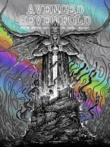 Avenged Sevenfold The Joint 4/18/09 Concert Poster Monochrome Foil Screen Print