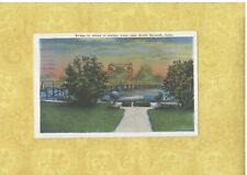 CT South Norwalk 1939 postcard BRIDGE TO ISLAND OF HARBOR VIEW CONN