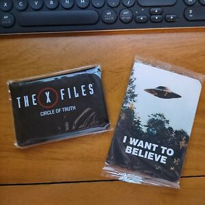 X-Files Circle of Truth Card Game & I Want To Believe Notepad SEALED