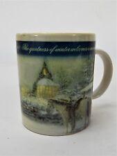 """1998 Thomas Kinkade Coffee Mug """"A Christmas Welcome"""""""