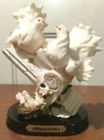 Vintage Dove Family Figurine, Meerchie, the 1980s, Near-Mint, Very Beautiful