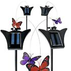 4-Pack: Solar Powered Fluttering Garden Decor Butterfly