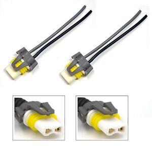 Wire Pigtail Female Ceramic 9012 HIR2 Head Light Two Harness Bulb Socket Plug OE