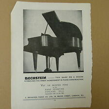vintage advertise BECHSTEIN GRRAND PIANO 1936