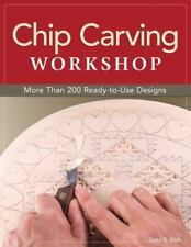 Chip Carving Workshop Book~Essential Techniques~Patterns~Great for Beginners~NEW