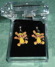 TIGGER POST EARRINGS NIB Silver Plated Post Child/Adult Tiger Winnie the Pooh