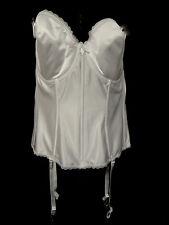 Va Bien White Strapless Bustier Corset w Adjusable Garter Straps 36DD Style #513