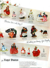 Royal Doulton Figurines COLLIE Skater AFTERNOON TEA Lady Charmian 1955 PRINT AD