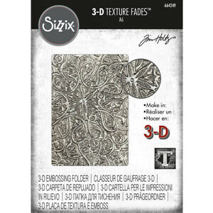 Sizzix 3D Texture Fades A6 Embossing Folder - Engraved