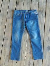 Replay Jeans Size 32 x 28 Womens Stretch Medium Wash, slight fade Straight