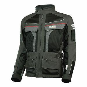 OLYMPIA Moto Sports MEN DAKAR DUAL SPORT Motorcycle Jacket MJ222G XL Black Gray