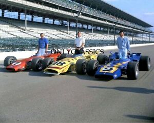 1970 Indy 500 AJ Foyt Johnny Rutherford Al Unser 8x10 Photo Auto Racing Legends