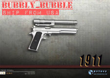 1/6 Scale M1911 silver Pistol Gun Rifle Military Hot Toys DiD BBI SHIP FROM USA
