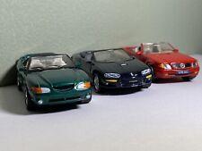 1990s Matchbox (c) Date Convertible Car Lot. '95 Mustang '98 Camaro Ss '90 S500