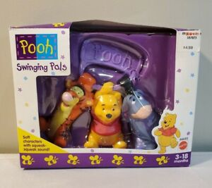 1990s Mattel Winnie The Pooh Swinging Pals Baby Play Toy Disney - NEW SEALED