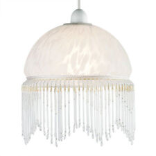 Vintage Shabby Chic Style Glass Ceiling Pendant Light Shade Chandelier Lampshade