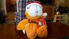 "GARFIELD & Odie Macy's NIGHT BEFORE CHRISTMAS 18"" Plush 25 Years w Book  MINT"
