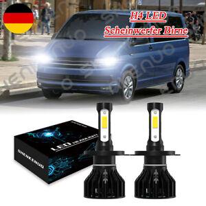 Paar H4 LED Scheinwerfer Birnen 100W 6000K Für VW Multivan T5 T6 2003-2019
