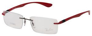 Ray Ban RX Eyeglasses RX 8724 1202 54 Gunmetal / Red Frame [54-17-140]
