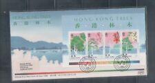 China Hong Kong 1988 Hong Kong Trees , S/S on FDC