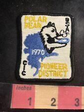 Vtg 1970 Cic Bsa Polar Bear Pioneer District Boy Scout Patch O91C