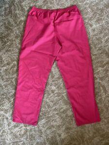 SB Scrubs Women's Size Medium Pants Pink Elastic Waist Pockets