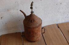 ancien petit jerrican a huile en fer deco loft garage ..   occasion