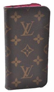 Authentic Louis Vuitton Monogram Folio Iphone X Case Pink M63444 LV D3598