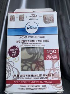 Febreze 2 Scented Shades With Stand - Wild Berries Scent Imperfect Box*FREE SHIP