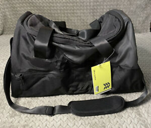 """All In Motion Duffel Bag 21.5"""" Black Large With Pockets"""