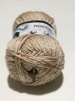 Filati maglia gomitoli 100% Cotone uncinetto 2,5 + filo lurex Beige
