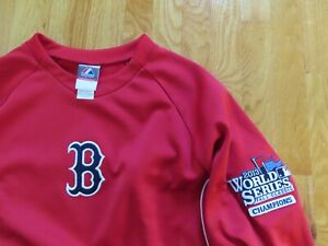 2013 WORLD SERIES - BOSTON RED SOX Champions (XL) Warm-Up Jacket DAVID ORTIZ