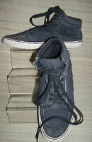 New Look 'For Men' Grey Textile/Synthetic Lace -Up Hi Tops Trainers  Size: 7/41