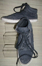 New Look 'For Men' MENS Grey Textile Lace -Up Hi Tops Trainers  Size:7/41(MT07)