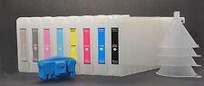 8x Refillable Pigment Ink Cartridges for Epson 7880/9880,UltraChrom K3+Resetter