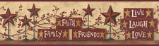 COUNTRY STARS AND BLOCKS  Wallpaper Border BY YORK