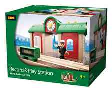 Brio Record & Play Station Wooden Train Engine 33578