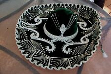 VINTAGE MEXICAN SOMBRERO MARIACHI MUSICIAN HAT PARIS 1900 ROMA 1898 GREEN VELVET